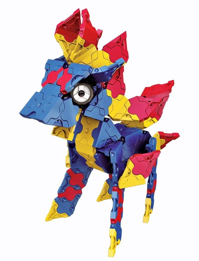 ตัวต่อลาคิว มังกร สีน้ำเงิน แบบที่ 4 ของชุด LaQ Mystical Beast Dragon