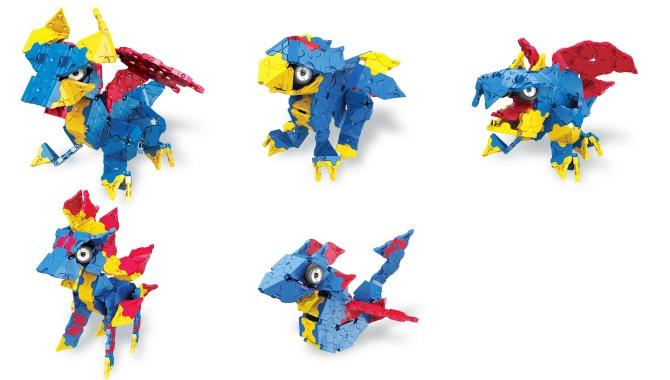 ัมังกรทั้ง 5 แบบในชุด ลาคิว LaQ Mystical Beast Dragon