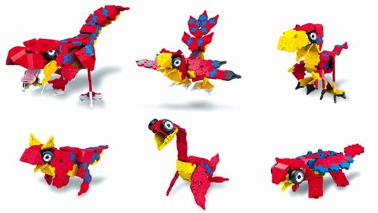โมเดลต่างๆ ของตัวต่อลาคิว LaQ ชุด Tyrannosaurus ไดโนเสาร์ ไทแรนโนซอรัส สีแดง