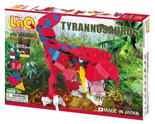 ตัวต่อลาคิว LaQ ชุด Tyrannosaurus ไดโนเสาร์ ไทแรนโนซอรัส สีแดง กล่องด้านหน้า