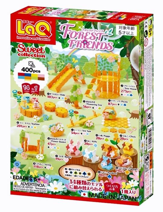 ตัวต่อลาคิว LaQ ชุด Forest Friends จากญี่ปุ่น กล่องด้านหลัง