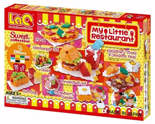 ตัวต่อลาคิว LaQ ชุด My Little Restaurant จากญี่ปุ่น กล่องด้านหน้า