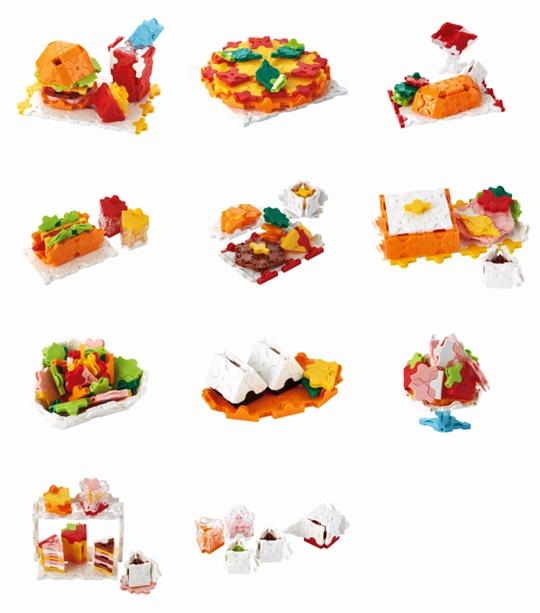 โมเดลแบบต่างๆ ของ ตัวต่อลาคิว LaQ ชุด My Little Restaurant จากญี่ปุ่น