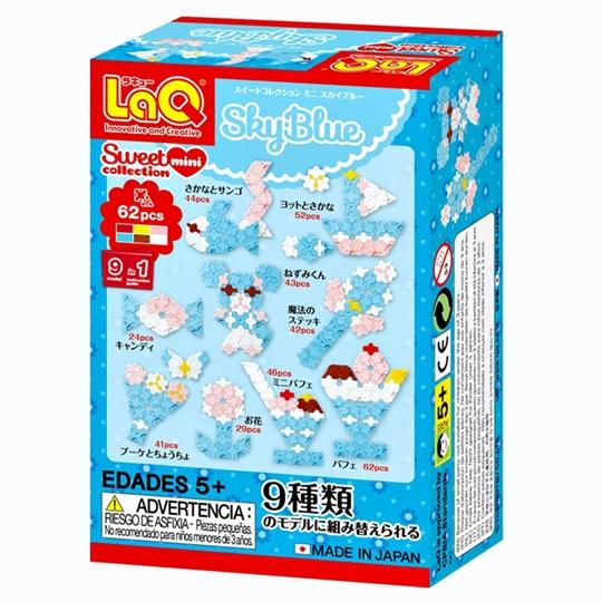 ตัวต่อลาคิว LaQ ชุด Mini Sky Blue ชุดสีฟ่สน่ารัก กล่องด้านหลัง
