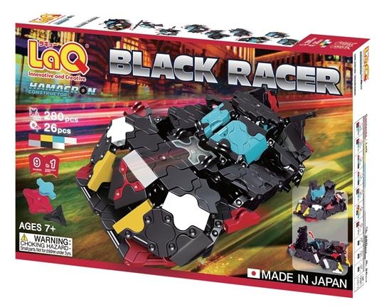 ตัวต่อลาคิว ชุด รถแข่งสีดำ LaQ Black Racer จากญี่ปุ่น กล่องด้านหน้า เสริมพัฒนาการ สำหรับเด้ก 7 ขวบขึ้นไป