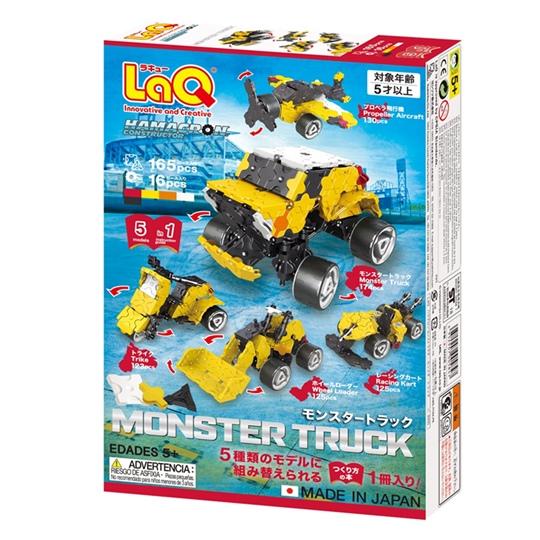 ตัวต่อลาคิว LaQ ชุด Monster Truck กล่องด้านหลัง