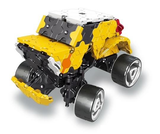 โมเดลรถยนต์แบบที่ 1 ของตัวต่อลาคิว ชุด รถบรรทุกขนาดยักษ์ - LaQ Monster Truck