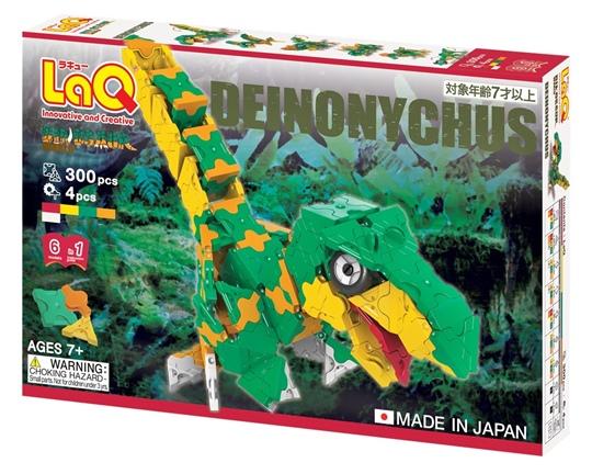 ตัวต่อลาคิว LaQ ชุด Deinonychus ไดโนเสาร์ ไดโนนีคัส สีเขียว กล่องด้านหน้า