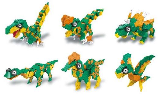 โมเดลต่างๆ ของตัวต่อลาคิว LaQ ชุด Deinonychus ไดโนเสาร์ ไดโนนีคัส สีเขียว