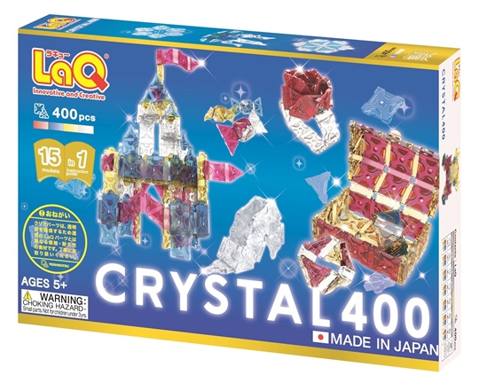 LaQ Crystal 400 ลาคิว ชุด คริสตัล 400 ตัวต่อ เสริมพัฒนาการ เสริททักษะ ญี่ปุ่น ฮายาชิเวิลด์