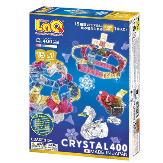 LaQ Crystal 400 ลาคิว ชุด คริสตัล 400 ตัวต่อ เสริมพัฒนาการ เสริททักษะ ญี่ปุ่น ฮายาชิเวิลด์ กล่องด้านหลัง