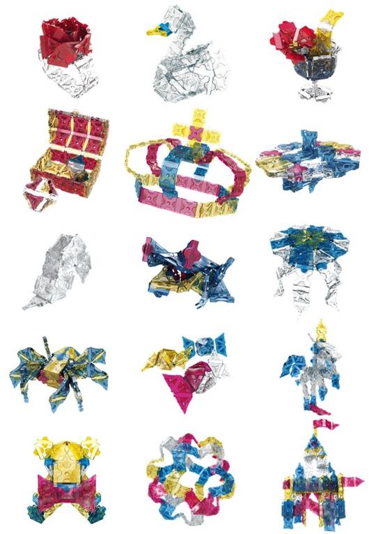 โมเดลแบบต่างๆ ของชุด LaQ Crystal 400 ลาคิว คริสตัล 400 ตัวต่อ ของเล่น ญี่ปุ่น