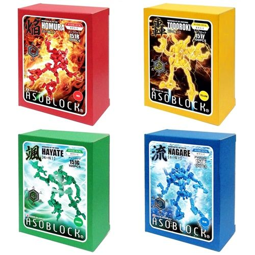 หุ่นยนต์ อโซบล็อค 4 สี Asoblock Robot 4 colors ของเง่น เสริมพัฒนาการเด็ก เสริมทักษะ ตัวต่อ