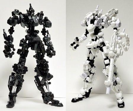 Asoblock Robot หุ่นยนต์ อโซบล็อค สีขาว สีดำ ของเล่น เสริมพัฒนาการเด็ก จากญี่ปุ่น