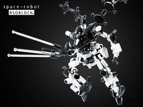 ตัวต่ออโซบล็อค Asoblock Space Robot หุ่นยนต์ อวกาศ ของเล่น เสริมทักษะ จากญี่ปุ่น