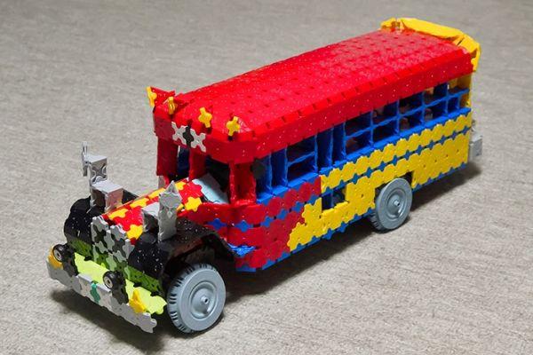 LaQ Bonnet Bus by Yuuto in Fukuyama รถเมล์รุ่นเก่า ผลงานลาคิวของน้อง Yuuto สุดยอดด้านจินตนาการ และความคิดสร้างสรรค์เลย