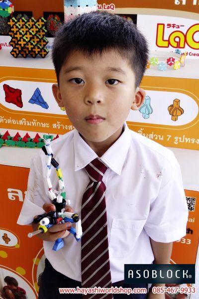น้องโชว์โมเดลที่ทำจากตัวต่อจิเอโบะ Chieblo ของเล่นเสริมพัฒนาการเด็กจากญี่ปุ่น ช่วยพัฒนาสมอง และกล้ามเนื้อมัดเล้กได้เป็นอย่างดี