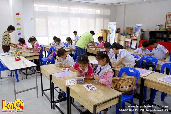 กิจกรรมเล่นตัวต่อลาคิว โรงเรียนสาธิตจุฬา ฝ่ายประถม โดยฮายาชิเวิลด์ ช่วยพัฒนาสมอง เสริมความคิดสร้างสรร