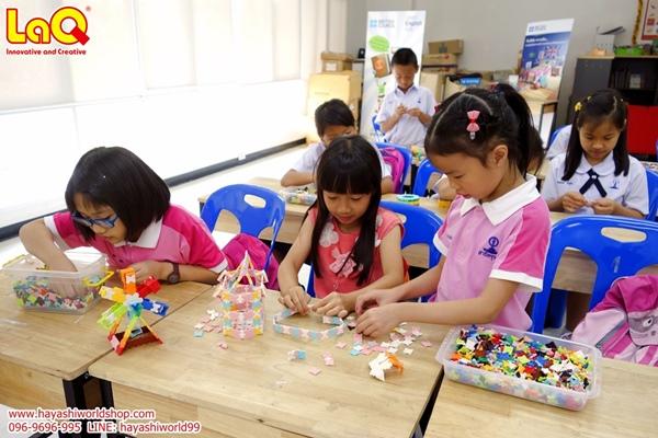 ฮายาชิเวิลด์ จัดกิจกรรมสอนเล่นตัวต่อลาคิว LaQ ให้เด็กๆ ที่โรงเรียนสาธิตจุฬา ฝ่ายประถม ช่วยพัฒนาสมอง เสริม IQ, EQ