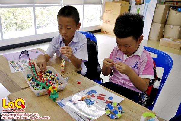 จัดกิจกรรมสอนเล่นตัวต่อลาคิว ให้เด็กๆ โรงเรียนสาธิตจุฬา ฝ่ายประถม โดยฮายาชิเวิลด์ ช่วยพัฒนาความคิดสร้างสรรค์ จินตนาการ เสริมสร้าง IQ EQ