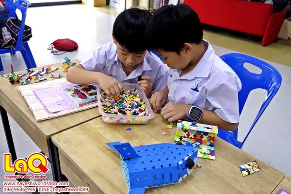 เด็กๆ สนุกสนานกับการเรียนรู้และเล่นตัวต่อลาคิว ฮายาชิเวิลด์ จัดกิจกรรมสอนการเล่นต่อลาคิว LaQ ให้กับเด็กๆ ที่โรงเรียนสาธิตจุฬา ฝ่ายประถม