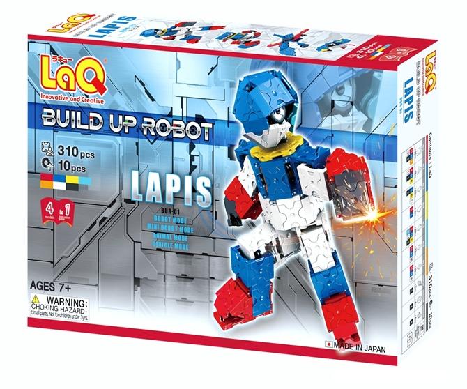 หุ่นยนต์ ลาคิว ลาปิส สีน้ำเงิน LaQ Hamacron robot Lapix blue พัฒนาสมอง กล้ามเนื้อมัดเล็ก