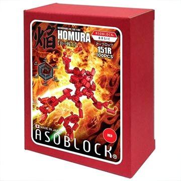 อโซบล็อค Asoblock 151R หุ่นยนต์สีแดง ของเล่น ตัวต่อเสริมพัฒนาการเด็ก สื่อเสริมทักษะจากญี่ปุ่น