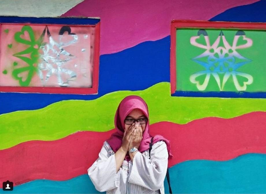 หมู่บ้านสีรุ้งที่อินโดนีเซีย
