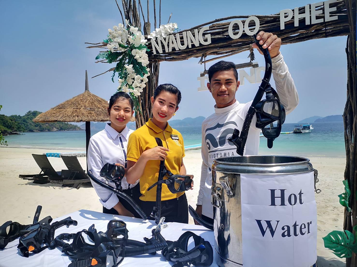 เผยมาตรการตรวจเข้มนักท่องเที่ยวป้องกัน โควิค-19 ของวิคตอเรียคลิฟฟ์ ที่เกาะนาวโอพี ประเทศเมียร์ม่า