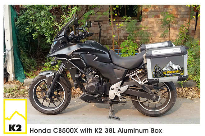 ราคาปี๊บพร้อมแร็ค Honda CB500X Year 2017