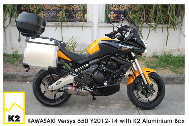 ราคาปี๊บ K2 พร้อมแร็ค สำหรับ Versys650