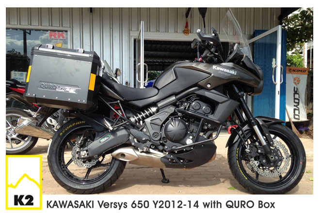 ราคาปี๊บ QURO พร้อมแร็ค สำหรับ Versys650