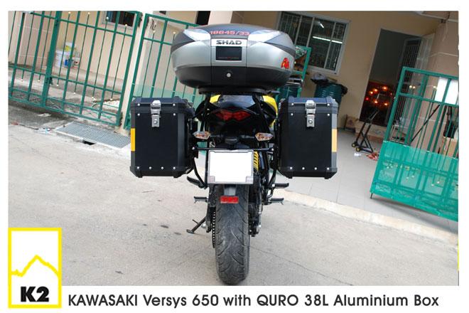 ราคาปี๊บพร้อมแร็ค Kawasaki Versys 650