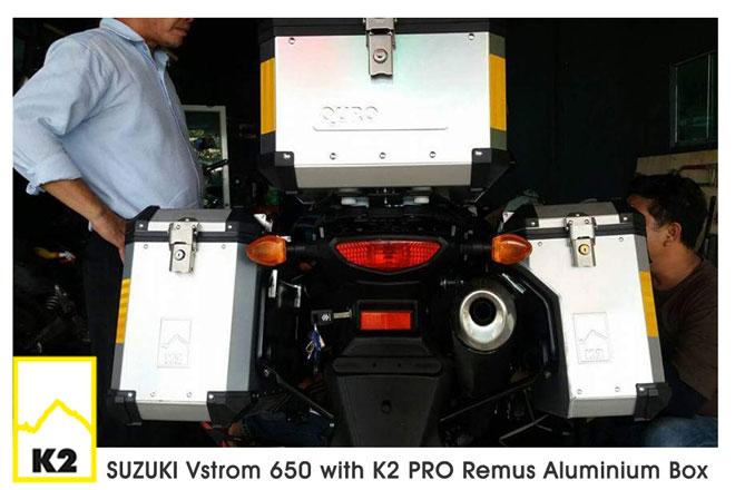 ราคาปี๊บพร้อมแร็ค Suzuki V Strom 650