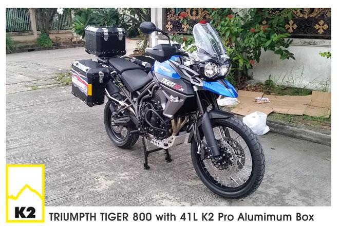 ราคาปี๊บพร้อมแร็ค Triumpth Tiger800
