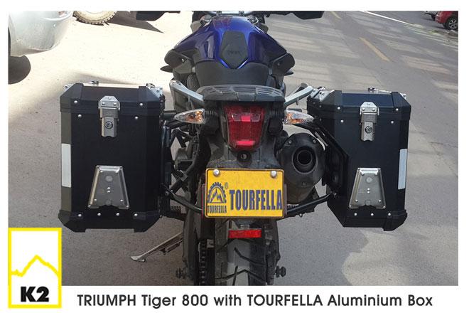 ราคาปี๊บพร้อมแร็ค Tourfella สำหรับ Tiger 800XC