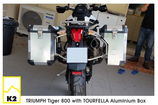 ราคาปี๊บพร้อมแร็ค Triumph Tiger 800XC