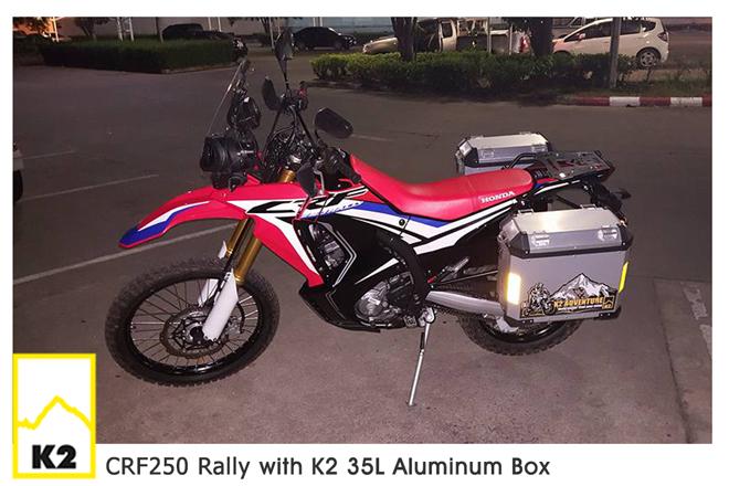 ราคาปี๊บพร้อมแร็ค CRF 250 Rally
