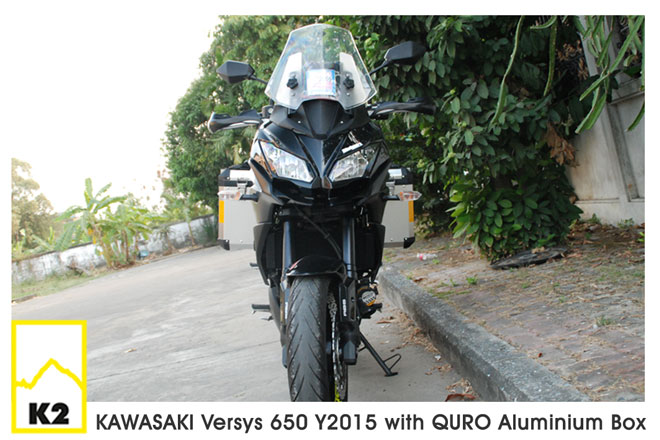 ราคาปี๊บ QURO พร้อมแร็ค K2 สำหรับ Kawasaki Versys 650 2015