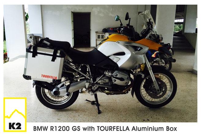 ราคากล่องข้างพร้อมแร็ค BMW R1200GS