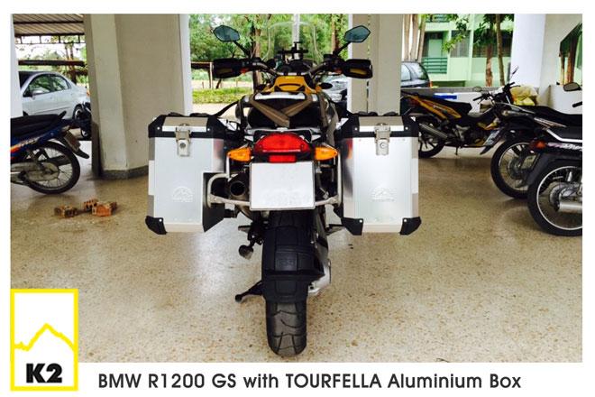 ราคากล่องข้างพร้อมแร็คหลยท่อ BMW R1200GS