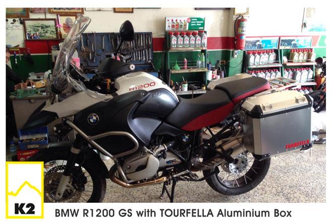 ราคากล่องข้างมอไซค์ พร้อมแร็ค สำหรับ BMW R 1200 GS