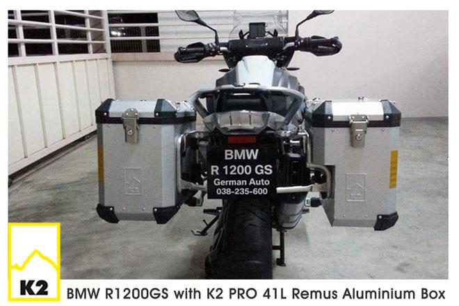 ราคาปี๊บพร้อมแร็ค BMW F800 GS