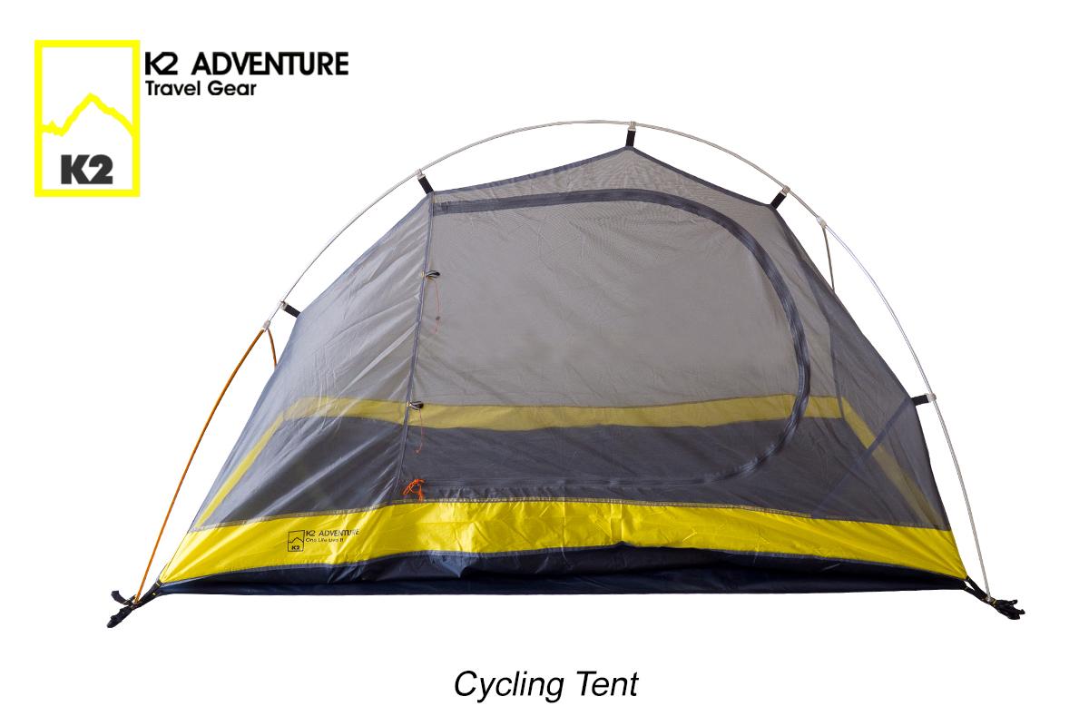 เต็นท์จักรยานนอนเดี่ยว น้ำหนักเบาเสาอลู กันฝนกันลม K2 ADVENTURE รุ่น Cycling