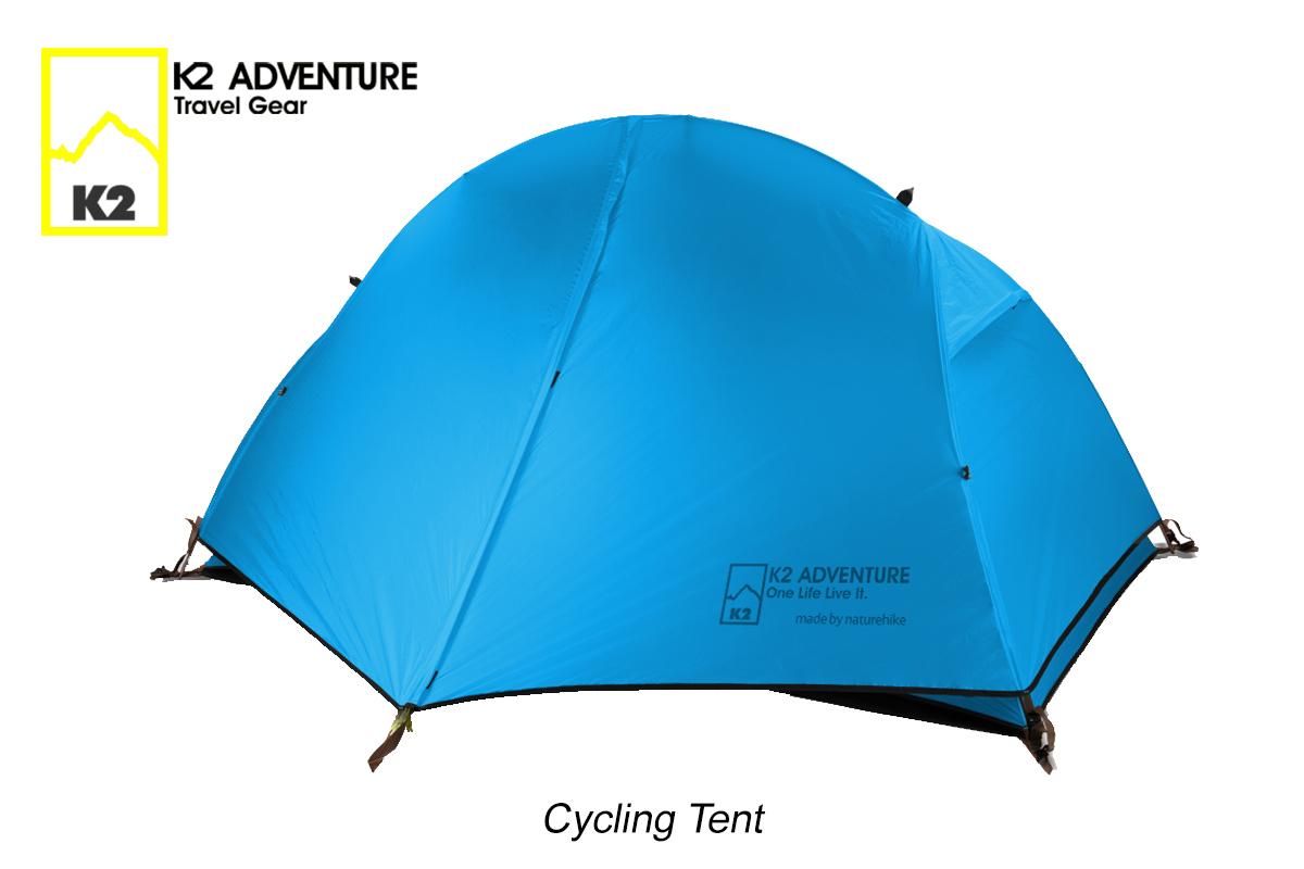 เต็นท์จักรยาน นอนเดี่ยว น้ำหนักเบาเสาอลู กันฝนกันลม K2 ADVENTURE รุ่น Cycling