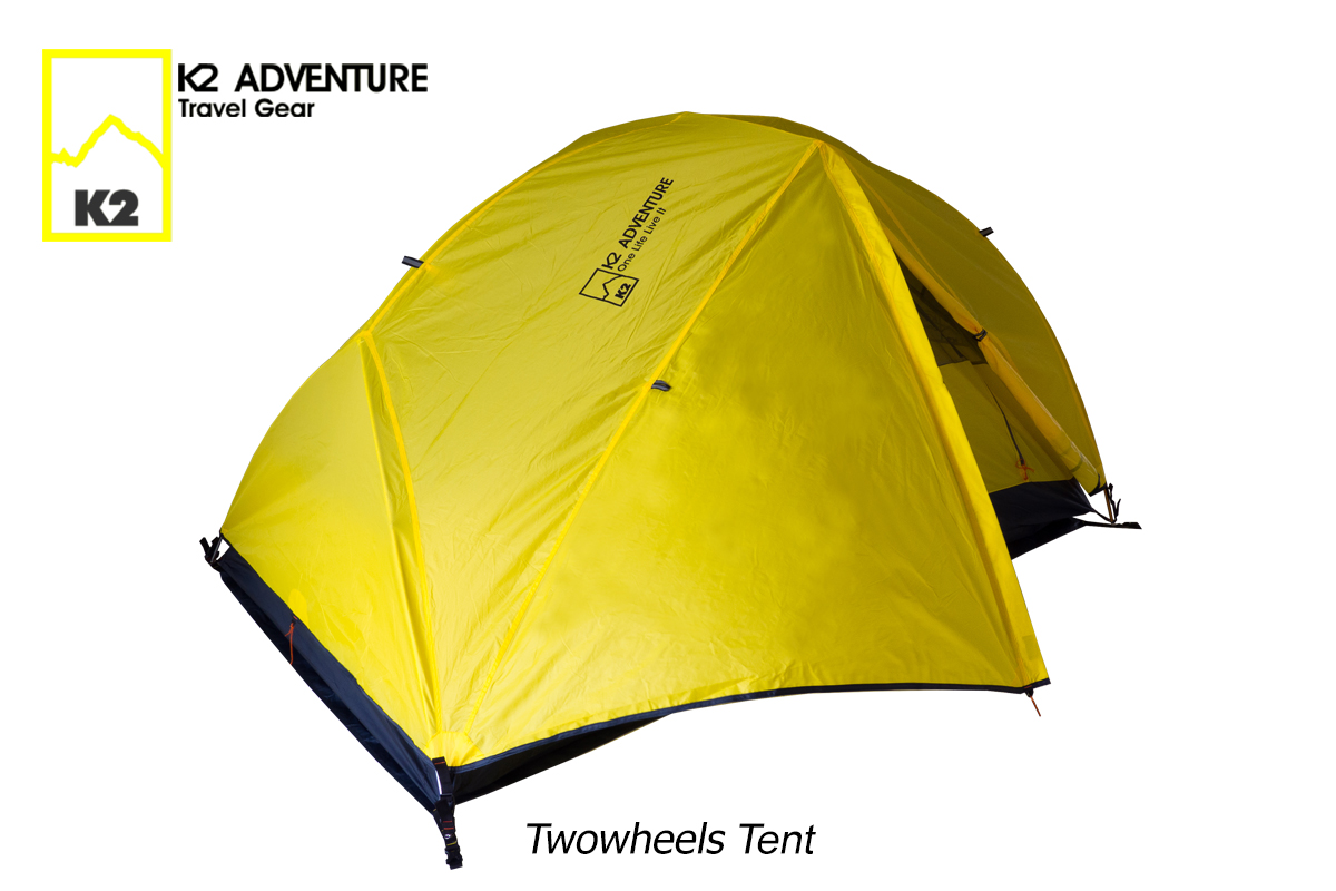 เต็นท์ K2 ADVENTURE รุ่น Twowheels เต็นท์สองคนนอน น้ำหนักเบา เสาอลู กันน้ำกันลม
