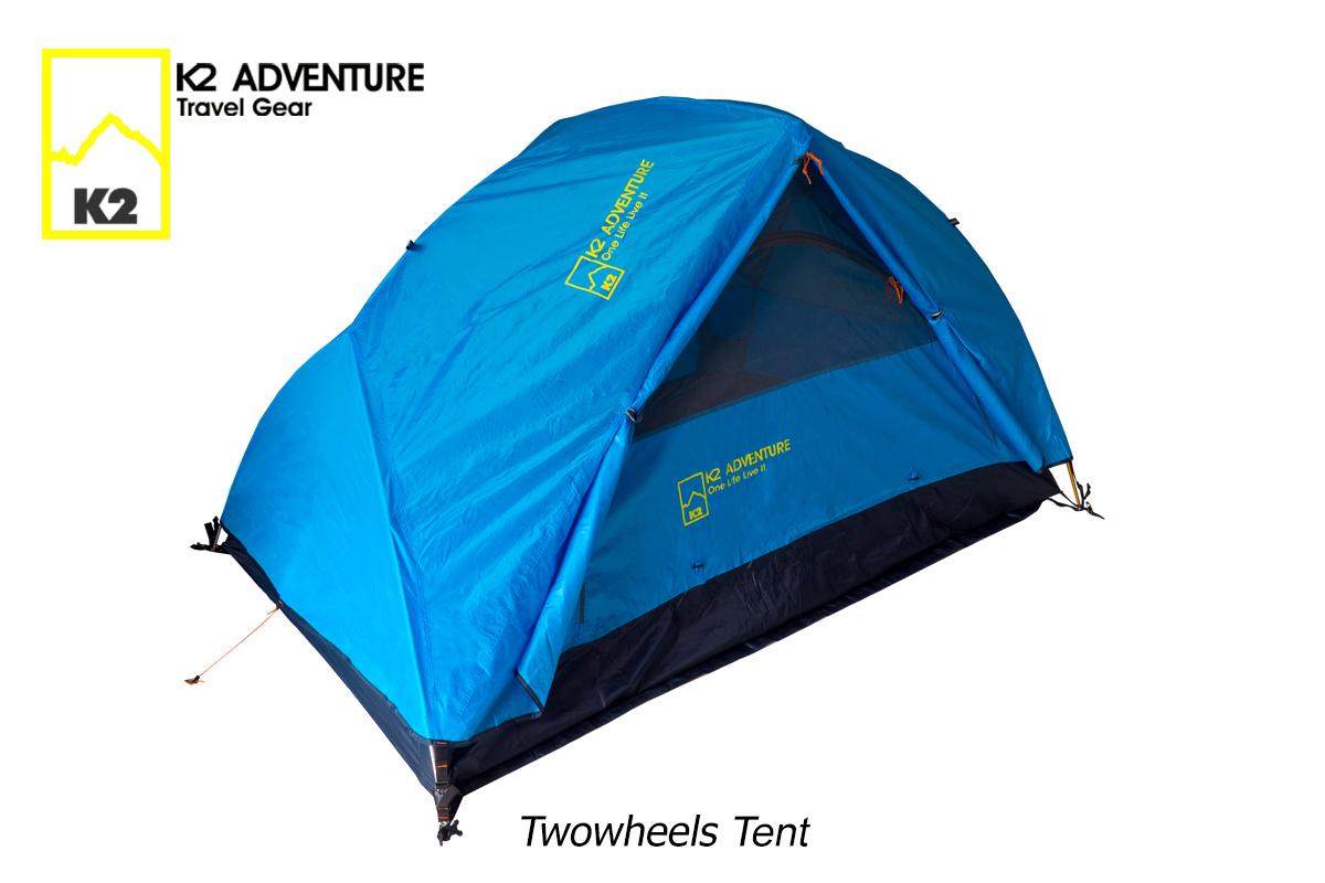 เต็นท์นอนสองคน K2 ADVENTURE รุ่น Twowheels เต็นท์น้ำหนักเบาเสาอลู