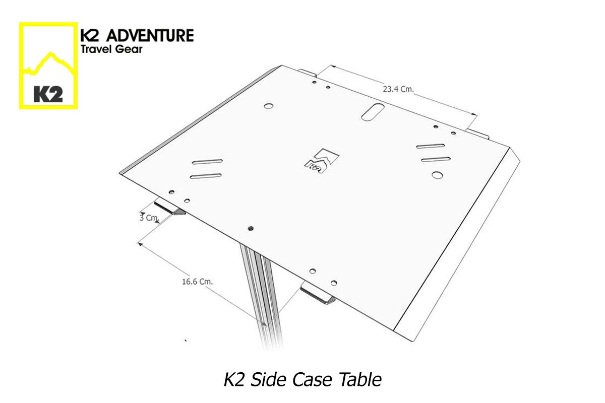 โต๊ะแค้มปิ้งใส่กล่องข้างมอเตอร์ไซค์