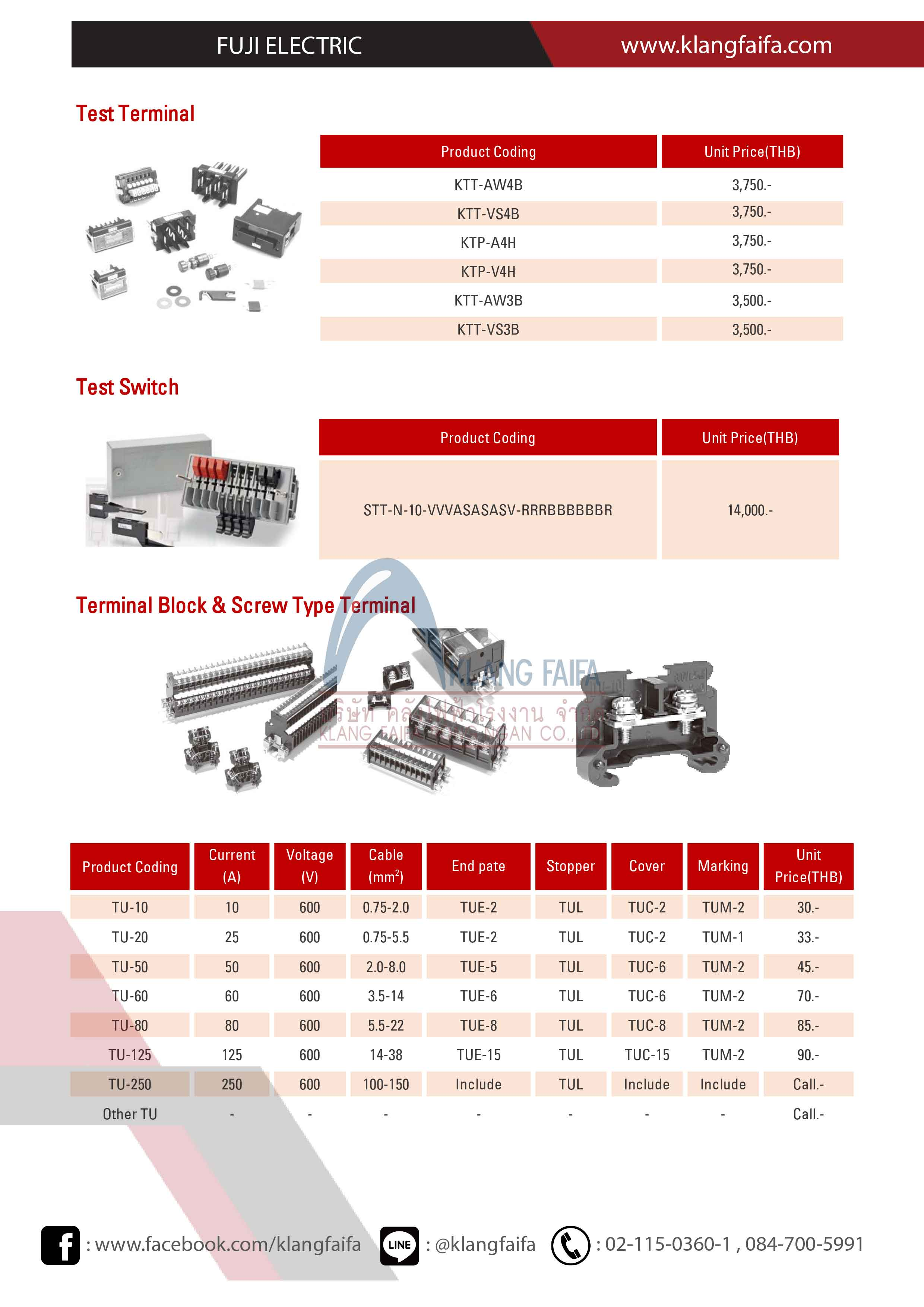 Semaphore Indicator, control Fuji, Discrepancy Switch, Latching Relay,Test Terminals,Control Switch, TerminalBlock,Rail