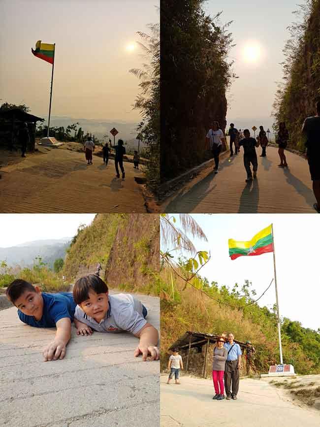 ช่องมิตรภาพชายแดนไทย พม่า ปิล๊อก บ้านอีต่อง ทองผาภูมิ กาญจนบุรี